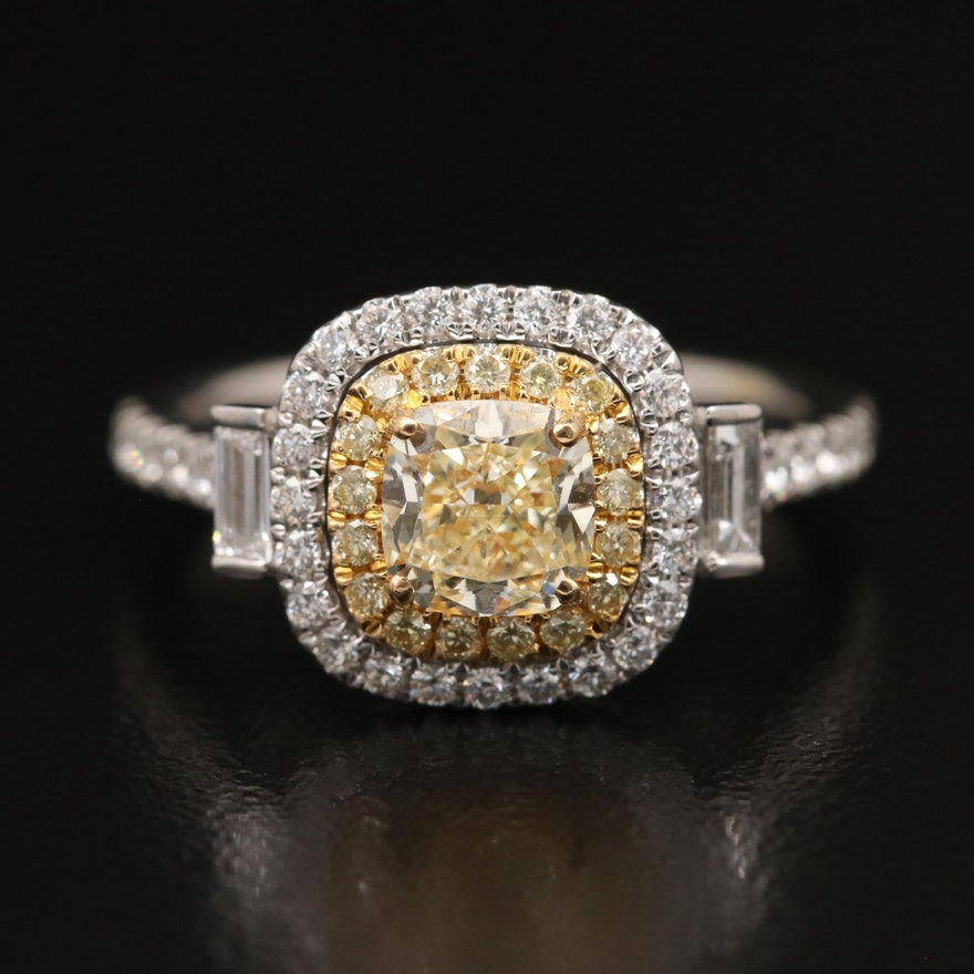 EFFY 18K Two Tone 1.60 CTW Diamond Ring