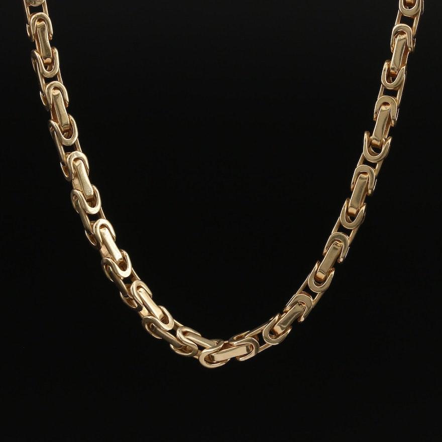 18K Fancy Link Chain Necklace