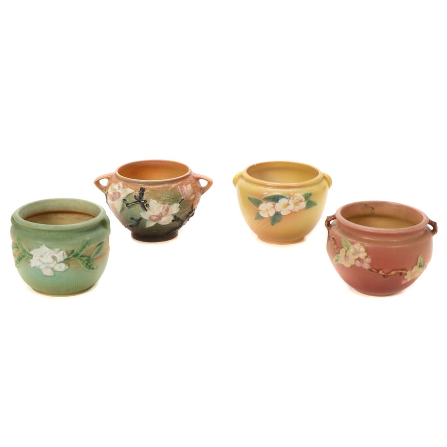 """Roseville Pottery """"Magnolia"""", """"Apple Blossom"""" and Other Jardinières"""