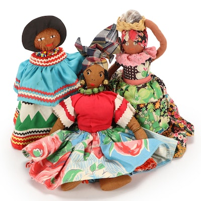 Handcrafted Cloth Folk Art Dolls