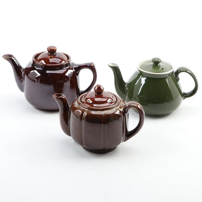 Hall and Other Ceramic Teapots, Mid-20th Century