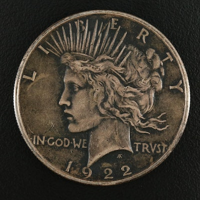 Toned 1922 Silver Peace Dollar
