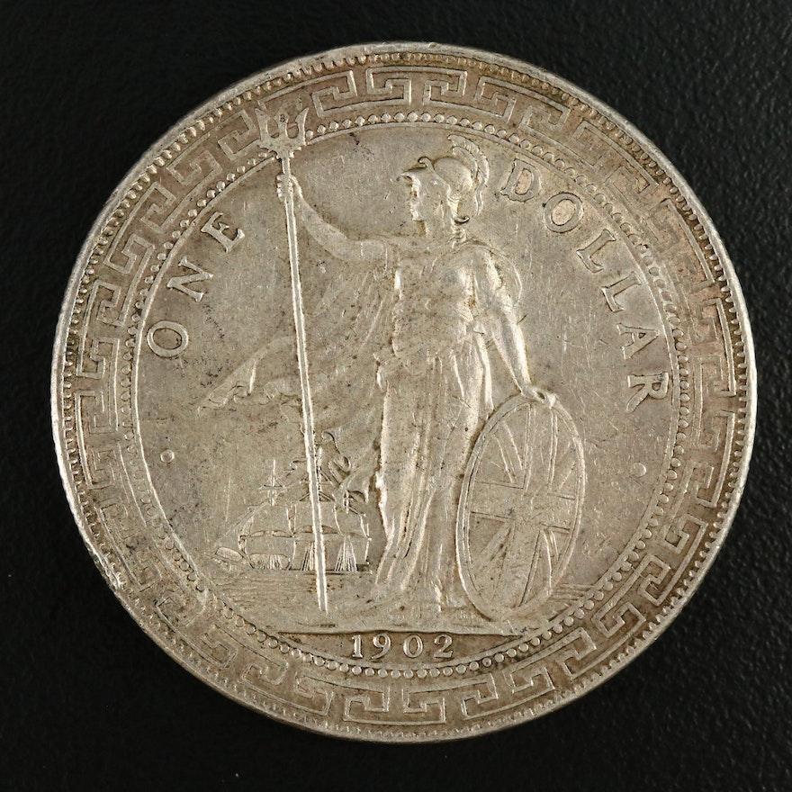 1902-B Silver British Trade Dollar