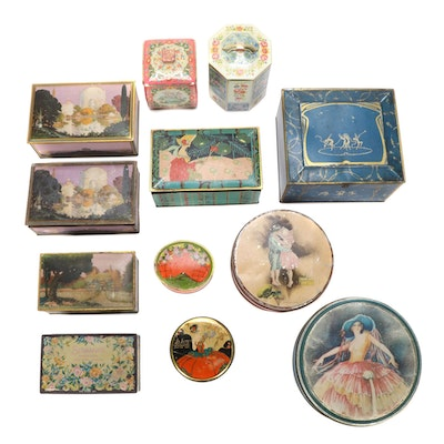 The Globe Soap Company and Other Tin Boxes, Early to Mid 20th Century