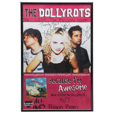 Autographed and Framed The Dollyrots Poster