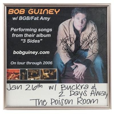 Bob Guiney Signed Poison Room Concert Poster