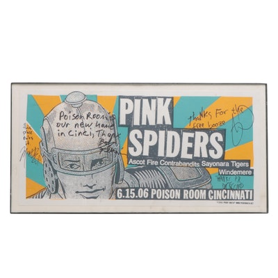 Autographed Pink Spiders Concert Poster
