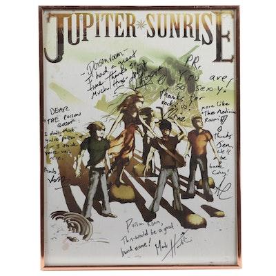 Autographed and Framed Jupiter Sunrise Poster