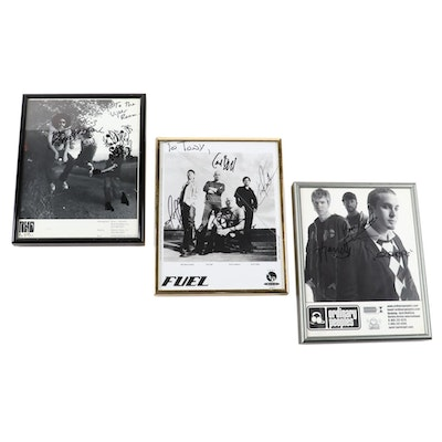 Framed Autographed Band Posters, Including Fuel and Ordinary Peoples