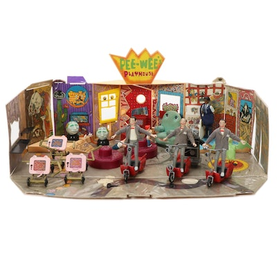 Pee-Wee's Playhouse Playset Including Action Figures and Accessories