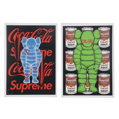 "Death NYC Pop Art Graphic Prints ""Soup XX"" and ""Coke XX,"" 2020"