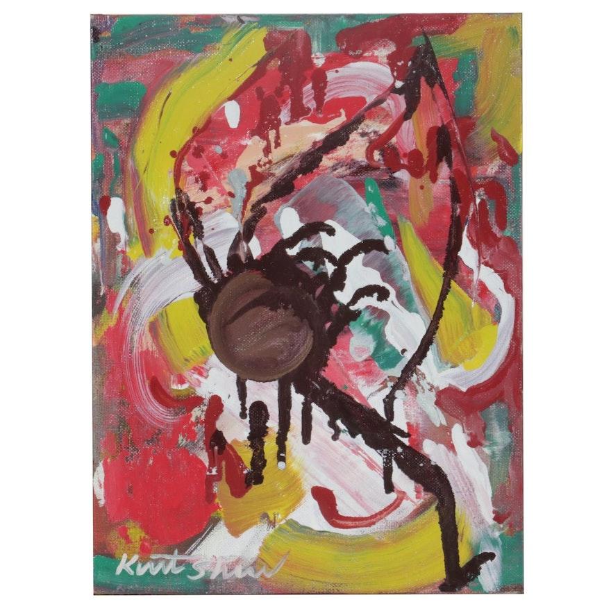 "Kurt Shaw Abstract Expressionist Oil Painting ""Vortex II,"" 2020"