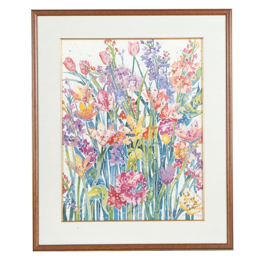 """Sherri Reeve Offset Lithograph """"Spring Blossoms"""""""