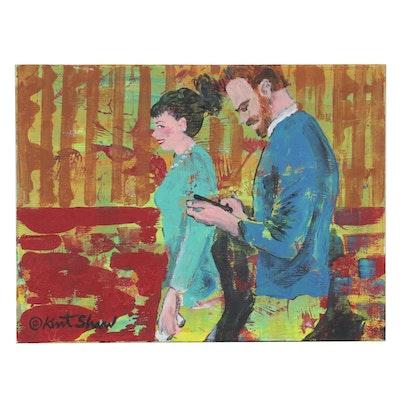 "Kurt Shaw Acrylic Painting ""Fully Charged,"" 2018"