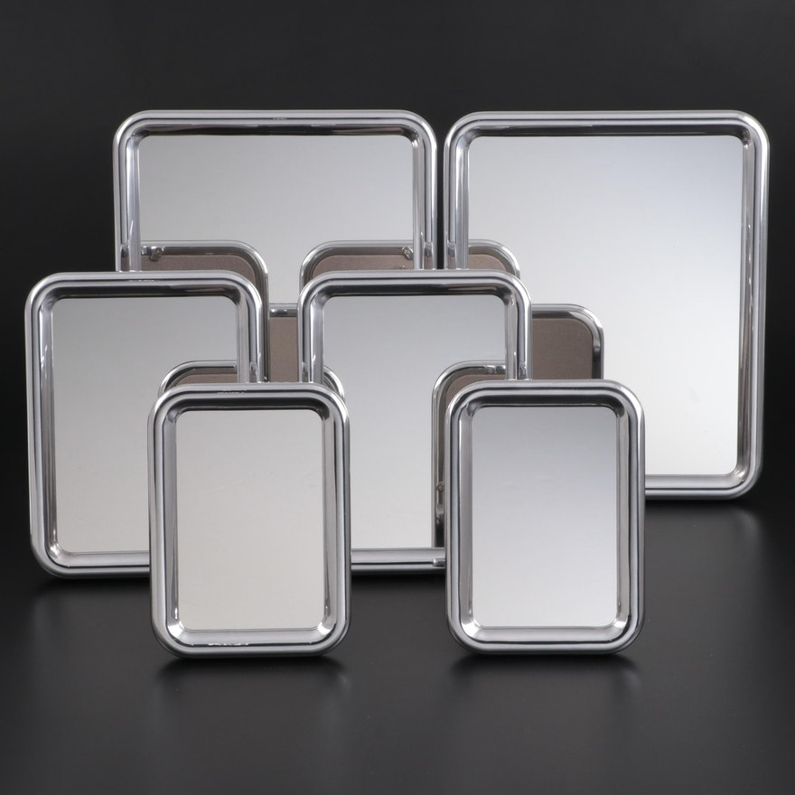 """Georg Jensen """"Tableau Collection"""" Aluminium Tabletop and Wall Hanging Mirrors"""