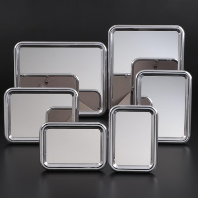 """Georg Jensen """"Tableau"""" Aluminium Tabletop and Wall Hanging Mirrors"""