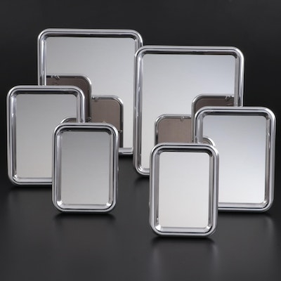 "Georg Jensen ""Tableau"" Aluminium Tabletop and Wall Hanging Mirrors"