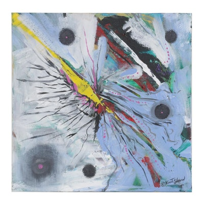 "Kurt Shaw Acrylic Painting ""Chasm,"" 2020"