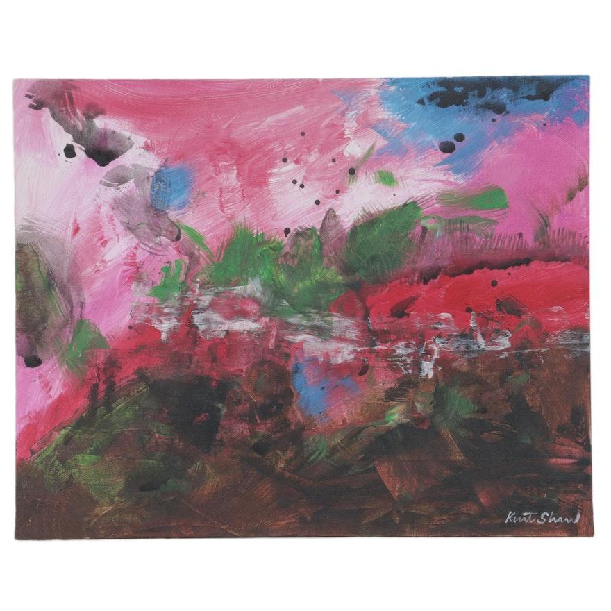"Kurt Shaw Acrylic Painting ""The Clearing,"" 2020"