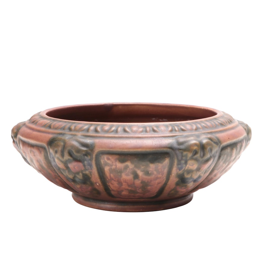"""Roseville Pottery """"Florentine"""" Ceramic Low Bowl, Early 20th Century"""