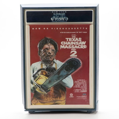 """The Texas Chainsaw Massacre Part 2"" Movie Poster with Backlit Display Frame"