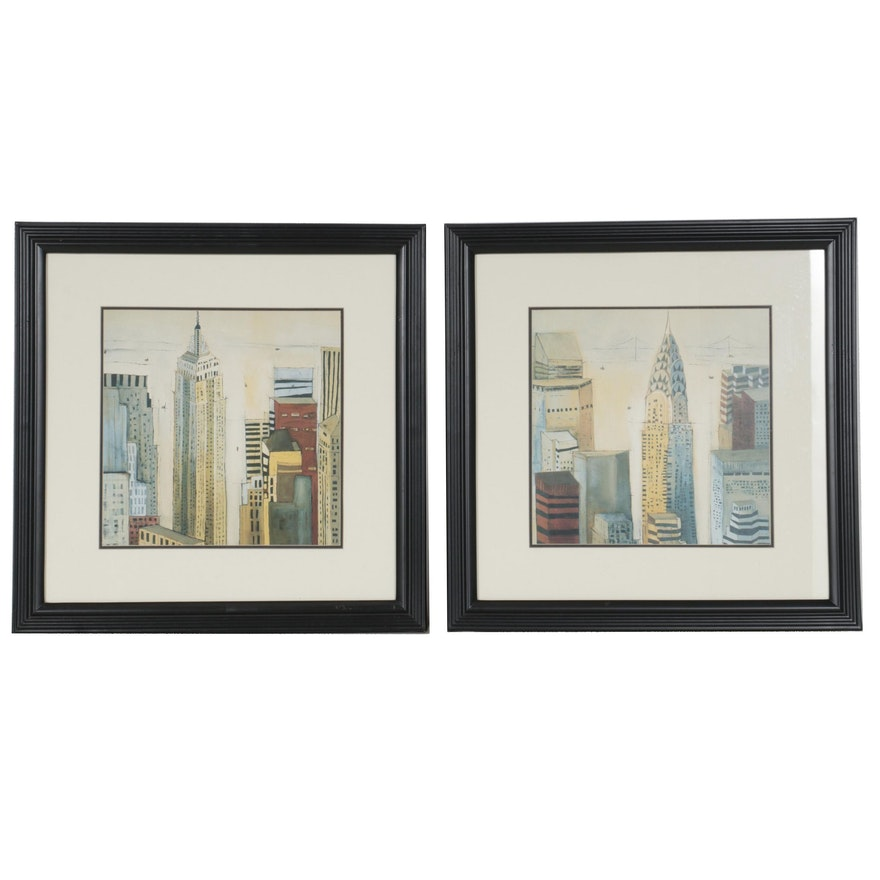 "Offset Lithographs after Mary Calkins from ""City Scapes"" Series"