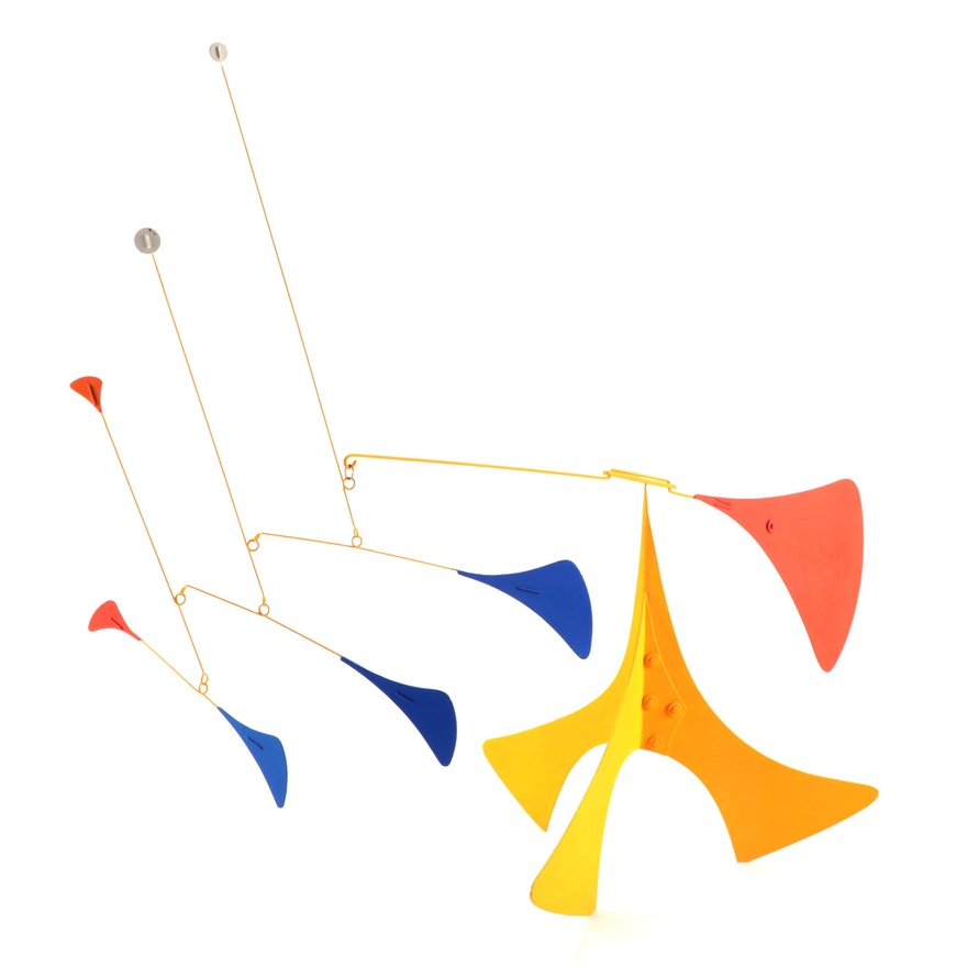 Mid-Century Modern Style Metal Kinetic Stabile Sculpture, 1997