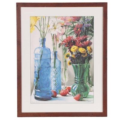 "Jamie Robertson Offset Lithograph ""Pillars of Glass,"" 21st Century"