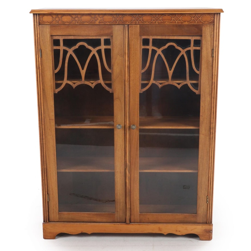 Federal Style Walnut-Stained Bookcase, 20th Century