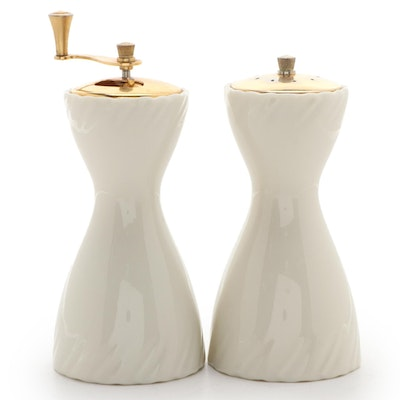 "Lenox ""Laurent"" Bone China Salt Shaker and Pepper Mill Set"