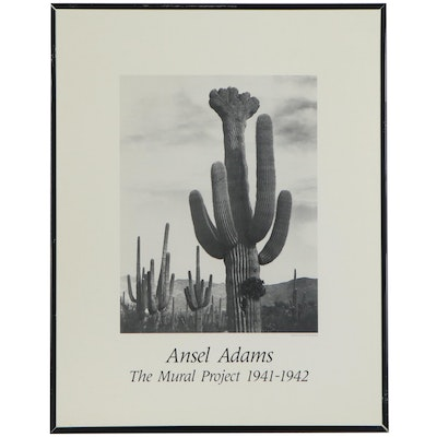 "Offset Lithograph after Ansel Adams ""The Mural Project 1941 -1942"""
