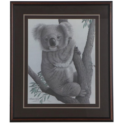 Harold Rigsby Offset Lithograph of Koala, Late 20th Century