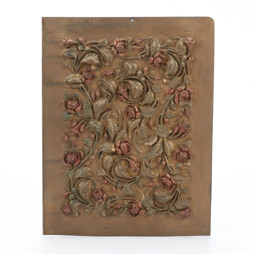 Rose Relief Pressed Sheet Metal Art
