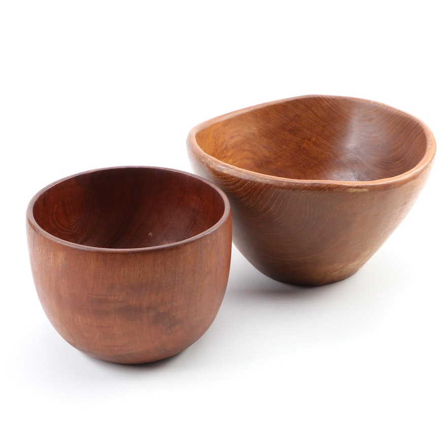 Anri Form and Other Teak Wood Bowl, Mid-20th Century