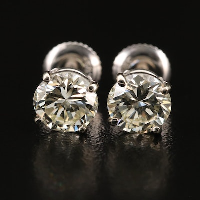 14K 2.20 CTW Diamond Stud Earrings