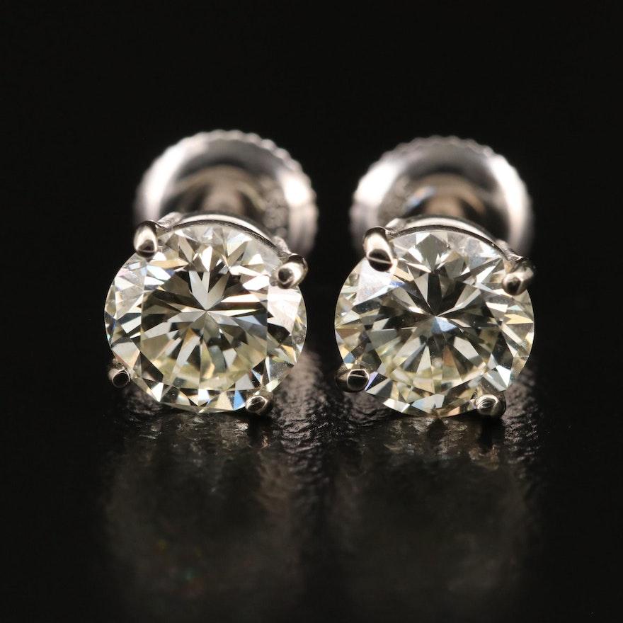 14K 2.20 CTW Diamond Stud Earrings