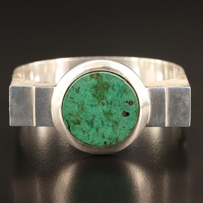 Modernist Sterling Eilat Stone Bangle