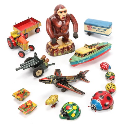 "Modern Toys ""King Kong"" and Other Tin Litho Toys, 20th Century"