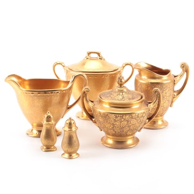 Royal Epiag and Other Gilt Encrusted Porcelain Tableware, Mid-20th Century