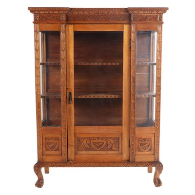 American Renaissance Revival Relief-Carved Bookcase, Early 20th Century