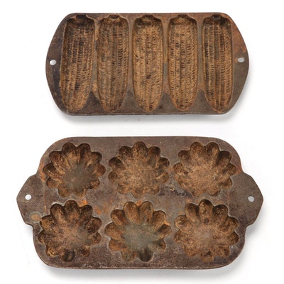 Cast Iron Corn Stick and Muffin Pan, Early to Mid 20th Century