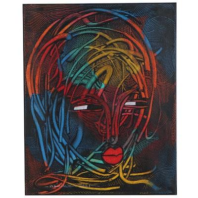 "Abiola Idowu Mixed Media Painting ""Diary of Accomplishment,"" 2021"