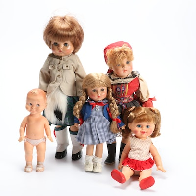 Effanbee, Mattel and Other Dolls, Mid to Late 20th Century