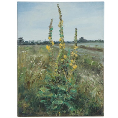 "Garncarek Aleksander Landscape Oil Painting ""Dziewanna,"" 2020"