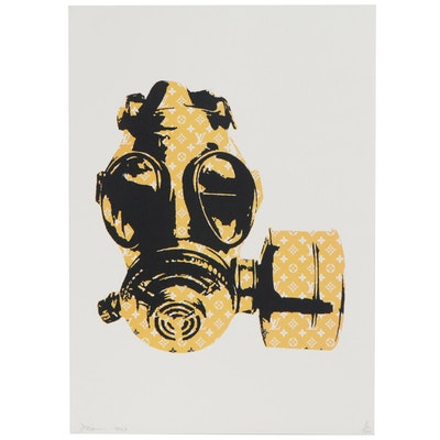 Death NYC Pop Art Graphic Print of Gas Mask, 2017