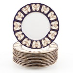 Royal Doulton Gold Swag and Cobalt Dinner Plates