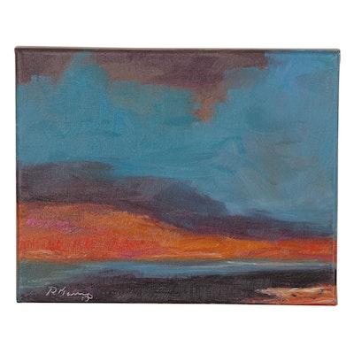 """Rebecca Manns Oil Painting """"Desert Mirage,"""" 2020"""