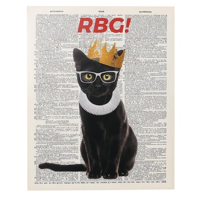 """RBG!"" Digital C-Print of Ruth Bader Ginsburg Cat, 21st Century"