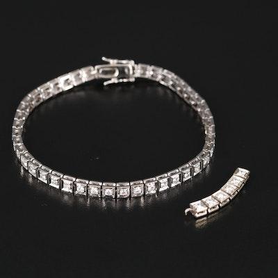 18K 1.53 CTW Diamond Line Bracelet