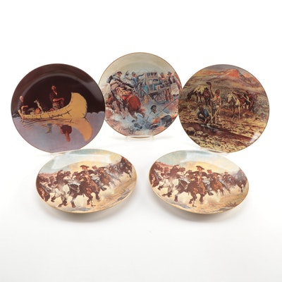 """Franciscan """"Western Series"""" Porcelain Collector Plates"""